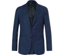 Blue Butterfly Slim-fit Unstructured Wool-hopsack Blazer