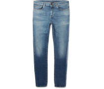 Slim-fit 15cm Hem Stretch-denim Jeans