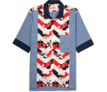 Venice Floral-print Cotton And Chambray Shirt