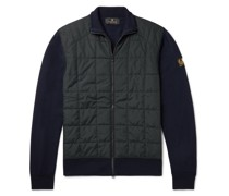 New Kelby Slim-Fit Panelled Wool and Quilted Shell Zip-Up Cardigan