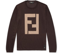 Intarsia Cashmere And Silk-blend Sweater