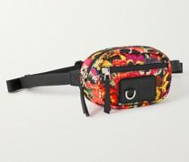 + Joe Brainard Leather-Trimmed Floral-Print Canvas Belt Bag