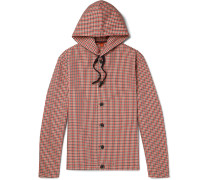 Gingham Shell Hooded Jacket