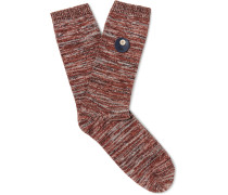 Mélange Stretch Cotton-blend Socks