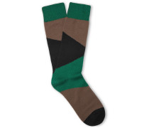 Camouflage Cotton-blend Socks