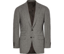 Grey Wool Puppytooth Suit Jacket