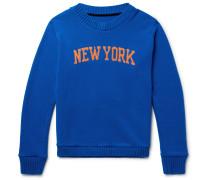 + Nba New York Knicks Intarsia Cashmere Sweater