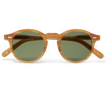 Miltzen Round-frame Horn-effect Acetate Sunglasses