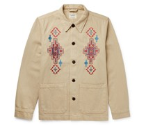 Barney Desert Embroidered Organic Cotton-Twill Jacket