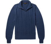 Slim-fit Baby Cashmere Half-zip Sweater