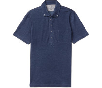 Slim-fit Button-down Collar Cotton-piqué Shirt