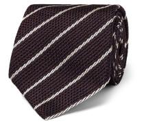 9cm Striped Woven Silk Tie