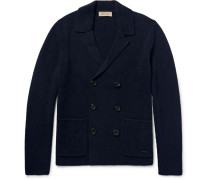 London Double-breasted Wool And Cashmere-blend Cardigan