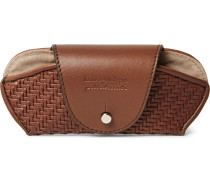 Pelle Tessuta Leather Sunglasses Case
