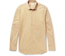 John Striped Cotton-poplin Shirt
