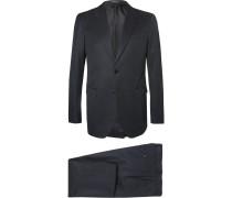 Blue Slim-fit Cotton-gabardine Suit