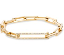 14-Karat Gold Diamond Chain Bracelet