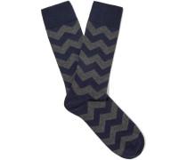 Cranmer Patterned Stretch Cotton-blend Socks