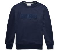 Bowery Bar-embroidered Loopback Cotton-jersey Sweatshirt
