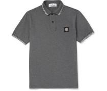 Contrast-tipped Stretch-cotton Piqué Polo Shirt
