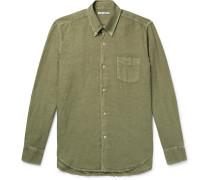 1950s Button-down Collar Linen And Cotton-blend Shirt