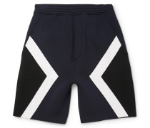 Panelled Bonded Jersey Shorts