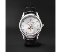 Master Ultra Thin Moon 39mm Stainless Steel And Alligator Watch