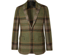 Morgan Checked Wool And Alpaca-blend Blazer