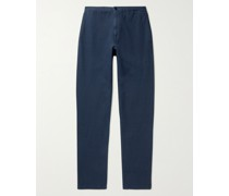 Slim-Fit Stretch Cotton and Linen-Blend Twill Trousers