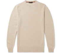 Slim-Fit Mélange Baby Cashmere Sweater