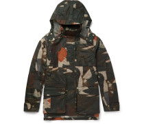 Camouflage-print Waxed Cotton-canvas Jacket