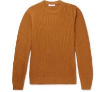 Slim-fit Waffle-knit Wool-blend Sweater