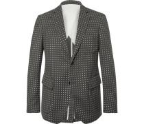 Grey Polka-dot Wool Blazer