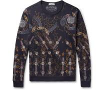 + Zandra Rhodes Printed Loopback Cotton-blend Jersey Sweatshirt