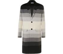 Dégradé Striped Wool Coat