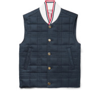 Quilted Cotton-twill Down Gilet