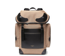 Rider Leather-trimmed Canvas Backpack