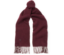 Two-tone Brushed Wool-blend Scarf