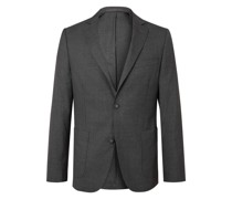 Unstructured Virgin Wool Suit Jacket