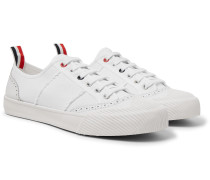 Leather and Rubber-Trimmed Canvas Sneakers