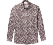 Slim-fit Paisley-print Cotton Shirt