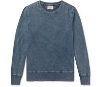 Sven Indigo-dyed Organic Cotton-jersey Sweatshirt