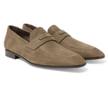 Luciano Nubuck Penny Loafers