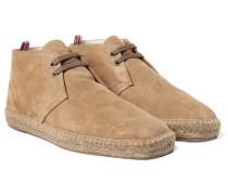 Suede Espadrille Desert Boots