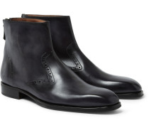 Polished-leather Chelsea Boots