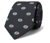7.5cm Logo-Jacquard Silk Tie