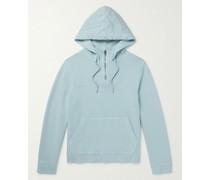 Cotton-Jersey Half-Zip Hoodie