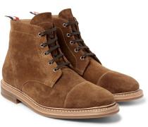 Cap-toe Suede Boots