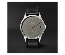 Orion Neomatik Datum Automatic 40.5mm Stainless Steel and Horween Cordovan Leather Watch, Ref. No. 364