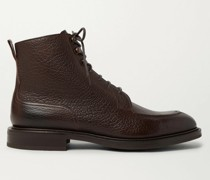 Cranleigh Shearling-Lined Full-Grain Leather Boots